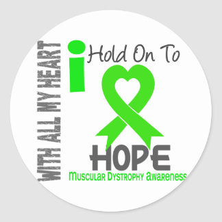 Muscular Dystrophy I Hold On To Hope Classic Round Sticker