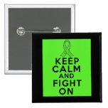 Muscular Dystrophy Keep Calm and Fight On Button