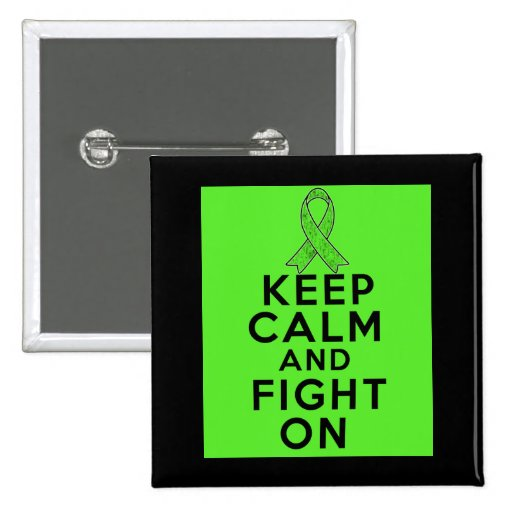Muscular Dystrophy Keep Calm and Fight On 2 Inch Square Button