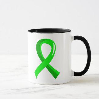 Muscular Dystrophy Lime Green Ribbon 3 Mug