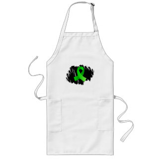 Muscular Dystrophy Lime Green Ribbon With Scribble Long Apron