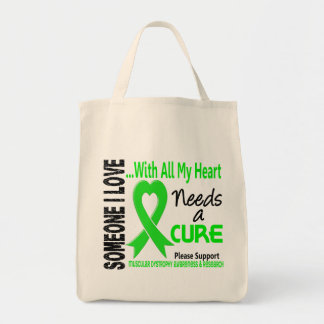 Muscular Dystrophy Needs A Cure 3 Grocery Tote Bag