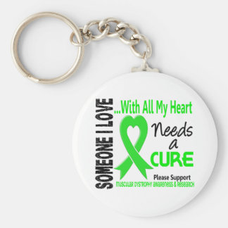 Muscular Dystrophy Needs A Cure 3 Keychains