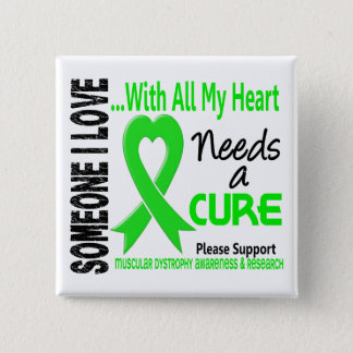 Muscular Dystrophy Needs A Cure 3 Pinback Button