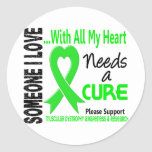 Muscular Dystrophy Needs A Cure 3 Classic Round Sticker