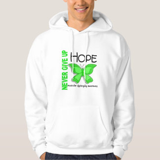 Muscular Dystrophy Never Give Up Hope Butterfly 4 Hooded Sweatshirt