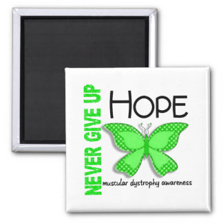 Muscular Dystrophy Never Give Up Hope Butterfly 4 2 Inch Square Magnet