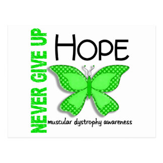 Muscular Dystrophy Never Give Up Hope Butterfly 4 Postcard
