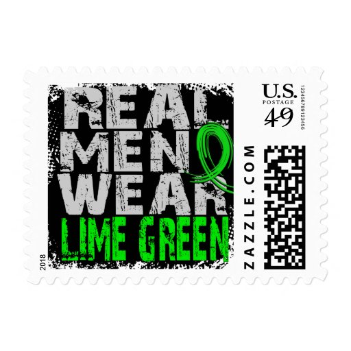 Muscular Dystrophy Real Men Wear Lime Green Stamps