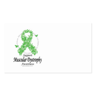 Muscular Dystrophy Ribbon of Butterflies Business Card