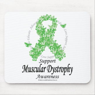 Muscular Dystrophy Ribbon of Butterflies Mouse Pad