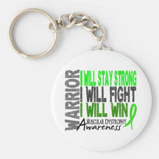 Muscular Dystrophy Warrior Keychain