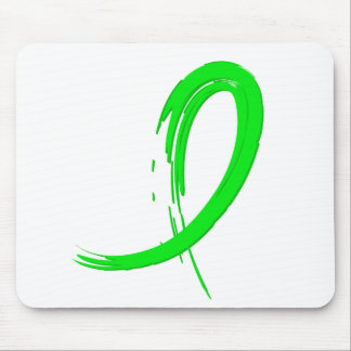 Muscular Dystrophy's Lime Green Ribbon A4 Mouse Pad