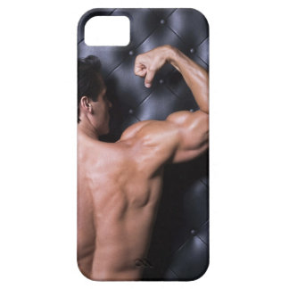 Muscular man flexing iPhone 5 covers