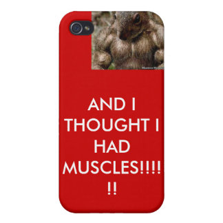 muscular-squirel, AND I THOUGHT I HAD MUSCLES!!... iPhone 4 Cases