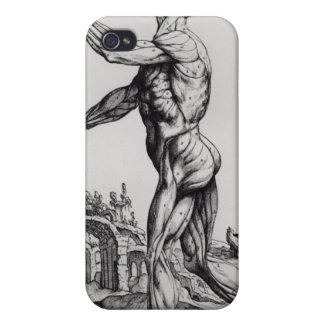 Musculature Structure of a Man (b/w neg & print) iPhone 4/4S Cover