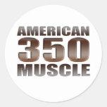 músculo americano 350 pegatinas