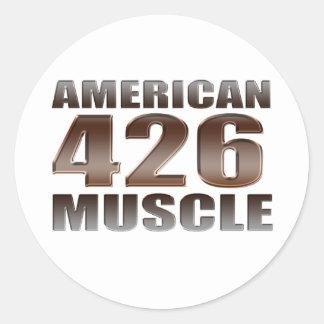 músculo americano 426 Hemi Pegatina Redonda