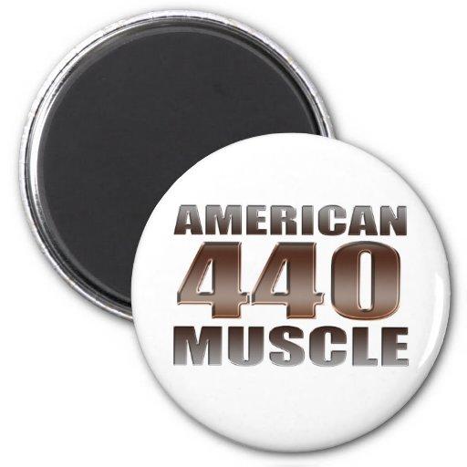 músculo americano 440 imán redondo 5 cm