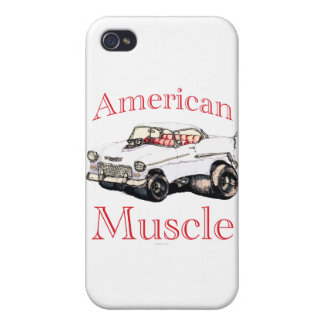 músculo americano chevy 55 iPhone 4 protectores