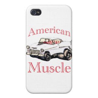 músculo americano chevy 55 iPhone 4/4S carcasas