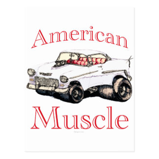 músculo americano chevy 55 postal