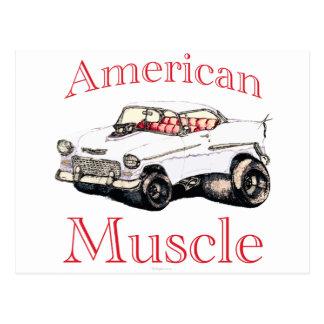 músculo americano chevy 55 postales