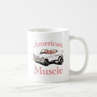 músculo americano chevy 55 taza básica blanca