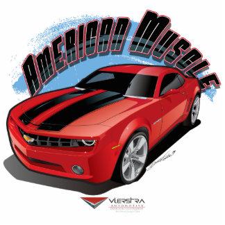Músculo americano fotoescultura vertical