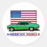 Músculo americano Hotrod Etiqueta
