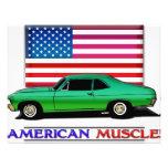 Músculo americano Hotrod Invitaciones Personales