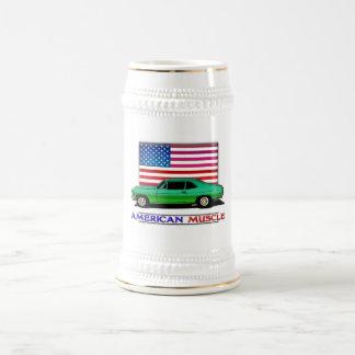 Músculo americano Hotrod Jarra De Cerveza