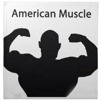 Músculo americano servilleta imprimida