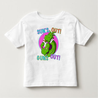 Músculo del dragón playera de bebé