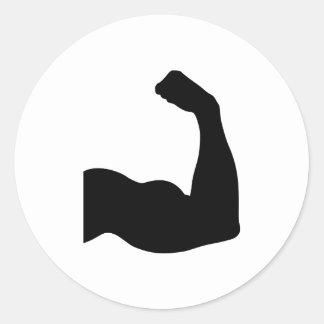 Músculo Pegatina Redonda