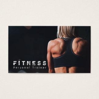 Músculo personal del instructor de la aptitud tarjetas de visita