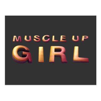 Músculo SUPERIOR encima del chica Tarjeta Postal