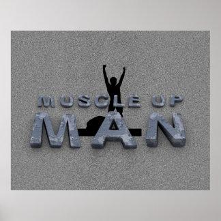 Músculo SUPERIOR encima del hombre Poster