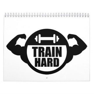 Músculos duros del barbell del tren calendarios de pared