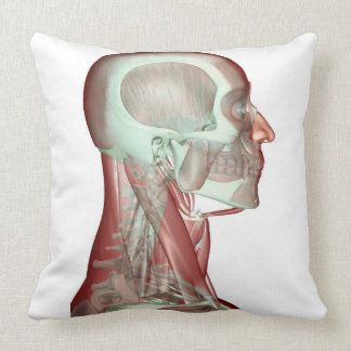 Musculoskeleton of the Head and Neck 2 Throw Pillow