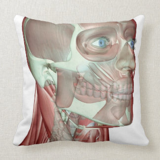 Musculoskeleton of the Head and Neck 5 Throw Pillow