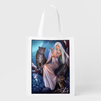Muse and Animals Reusable Grocery Bag