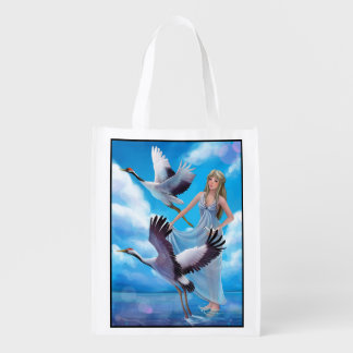 Muse and Cranes Reusable Grocery Bag