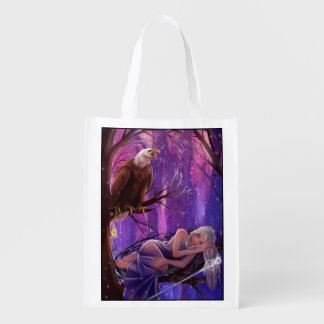 Muse and Eagle Reusable Grocery Bag