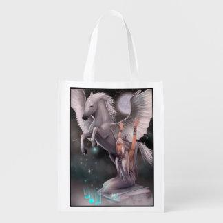 Muse and Pegasus Reusable Grocery Bag