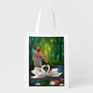 Muse and Swans Reusable Grocery Bag
