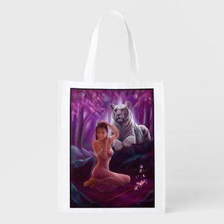 Muse and Tiger Reusable Grocery Bag