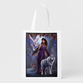 Muse and Wildlife Reusable Grocery Bag