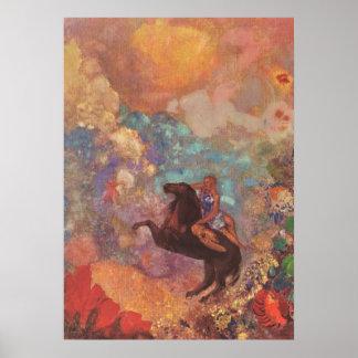 Muse auf Pegasus, Odilon Redon Poster