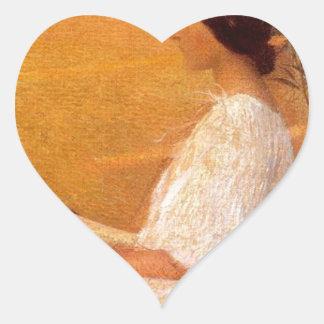 Muse by Henri Martin Heart Sticker